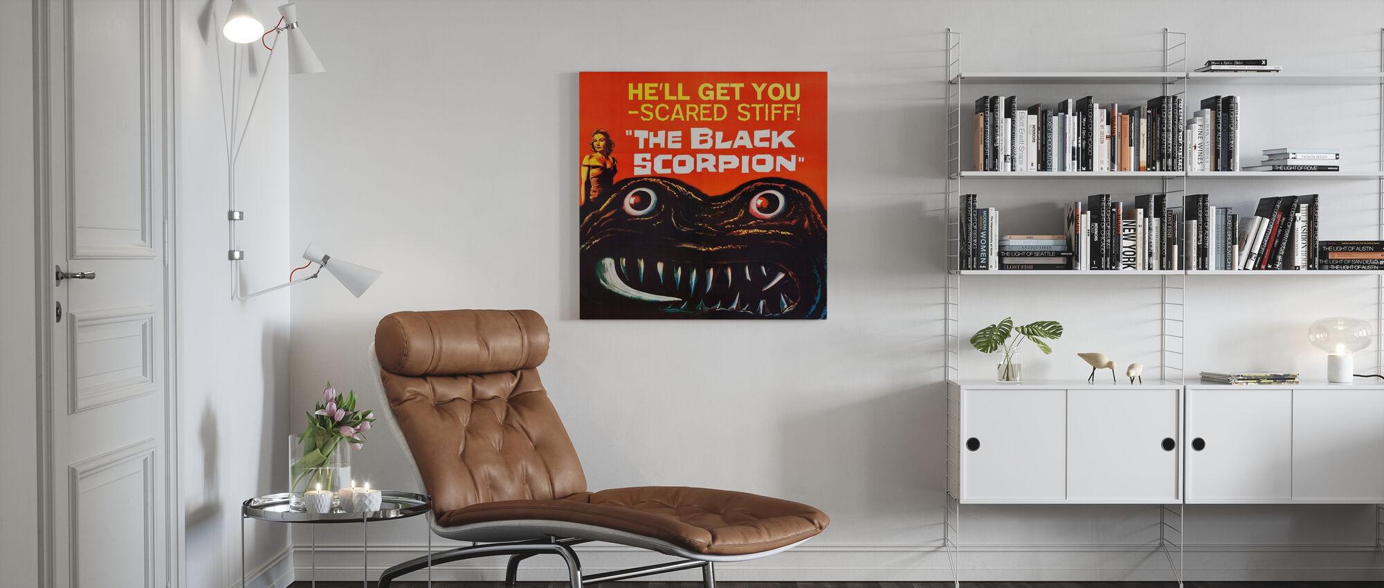 Black Scorpion - Canvas print - Living Room
