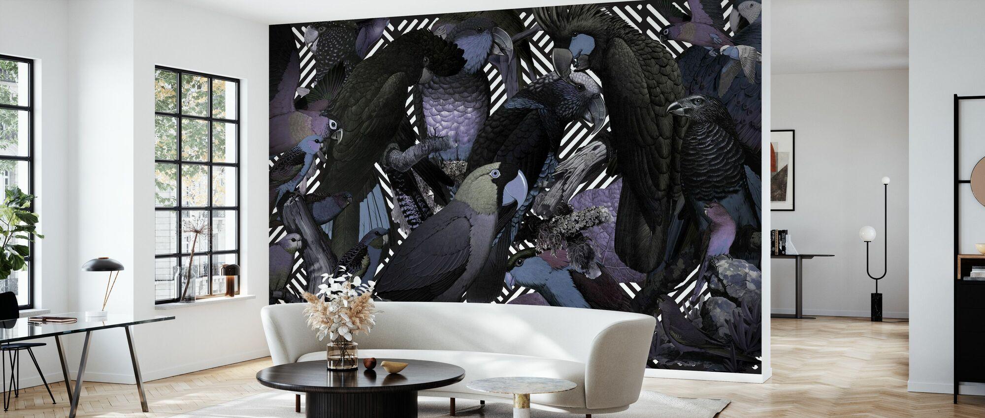 Family Portrait - Corbusier - Wallpaper - Living Room