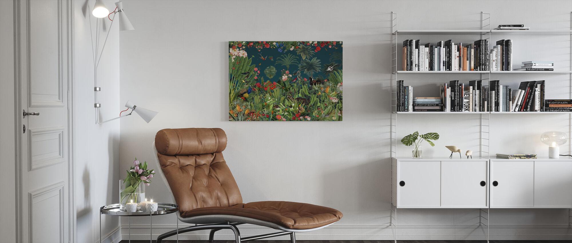 Thrivest - Blue - Canvas print - Living Room