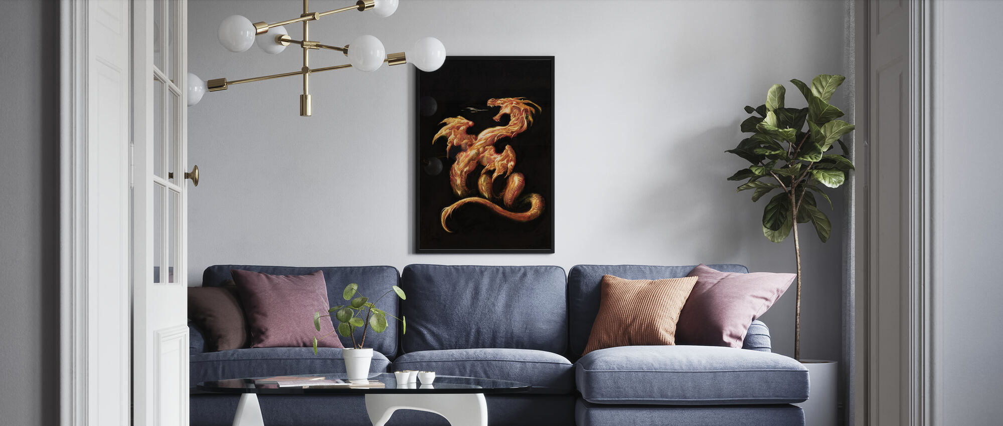 Fire - Poster - Living Room