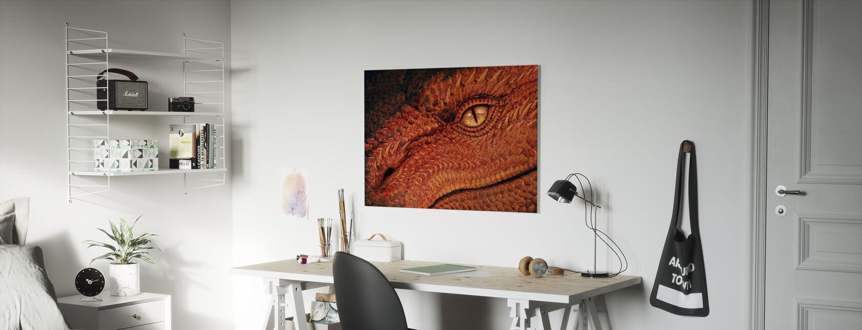 Lohikäärmeen silmä - Canvastaulu - Lastenhuone