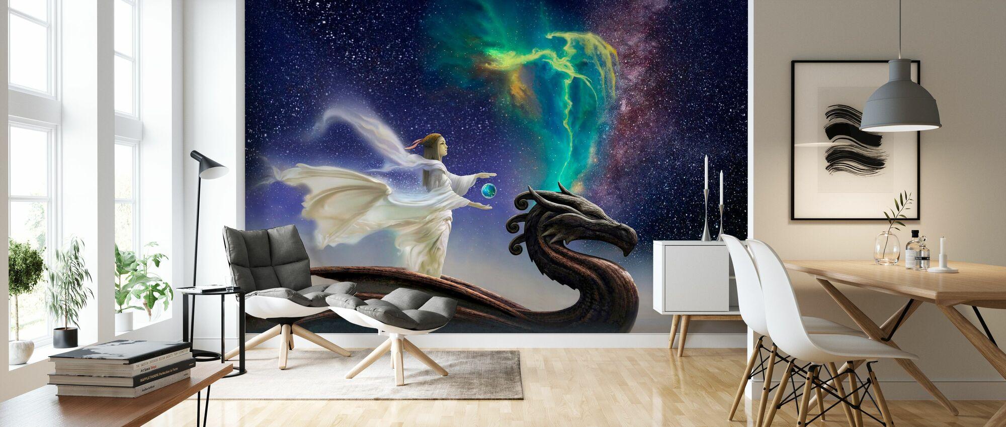 Cosmic - Wallpaper - Living Room