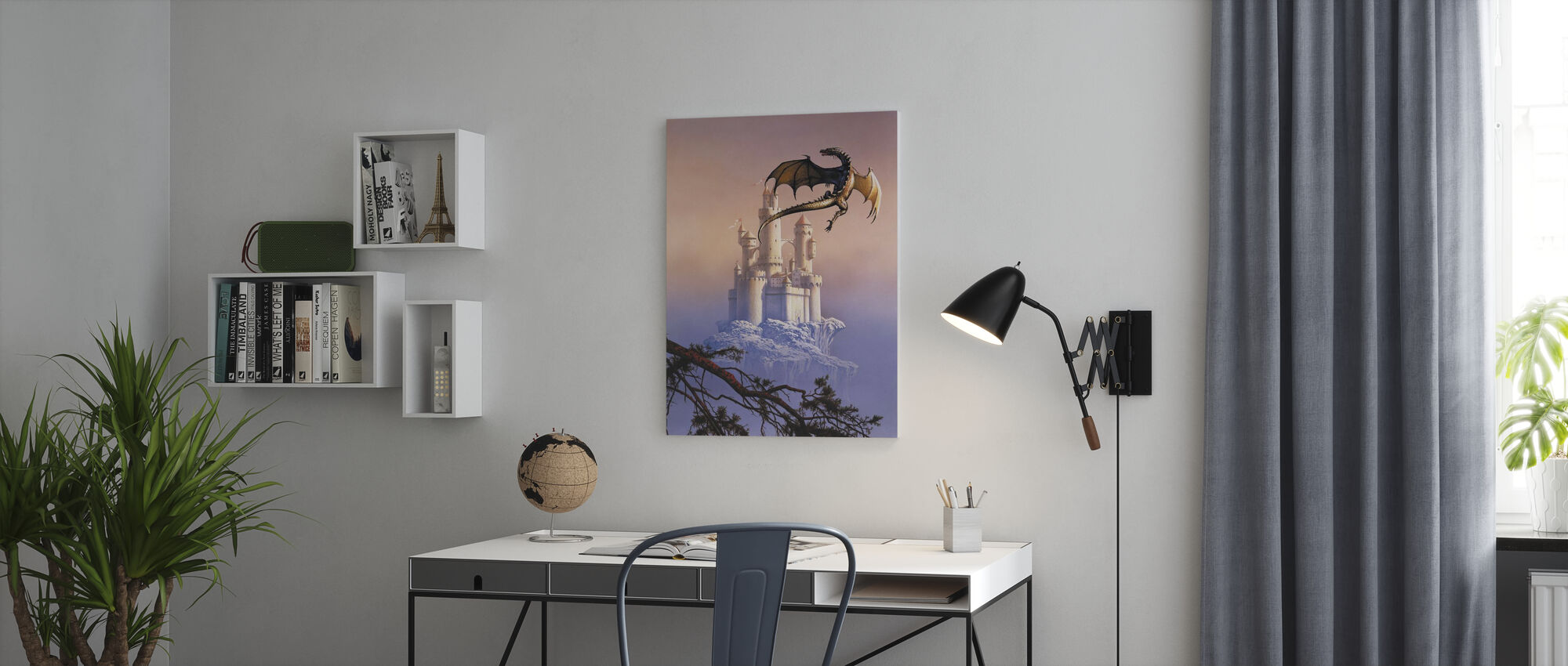 Flying Dragon - Canvas print - Office