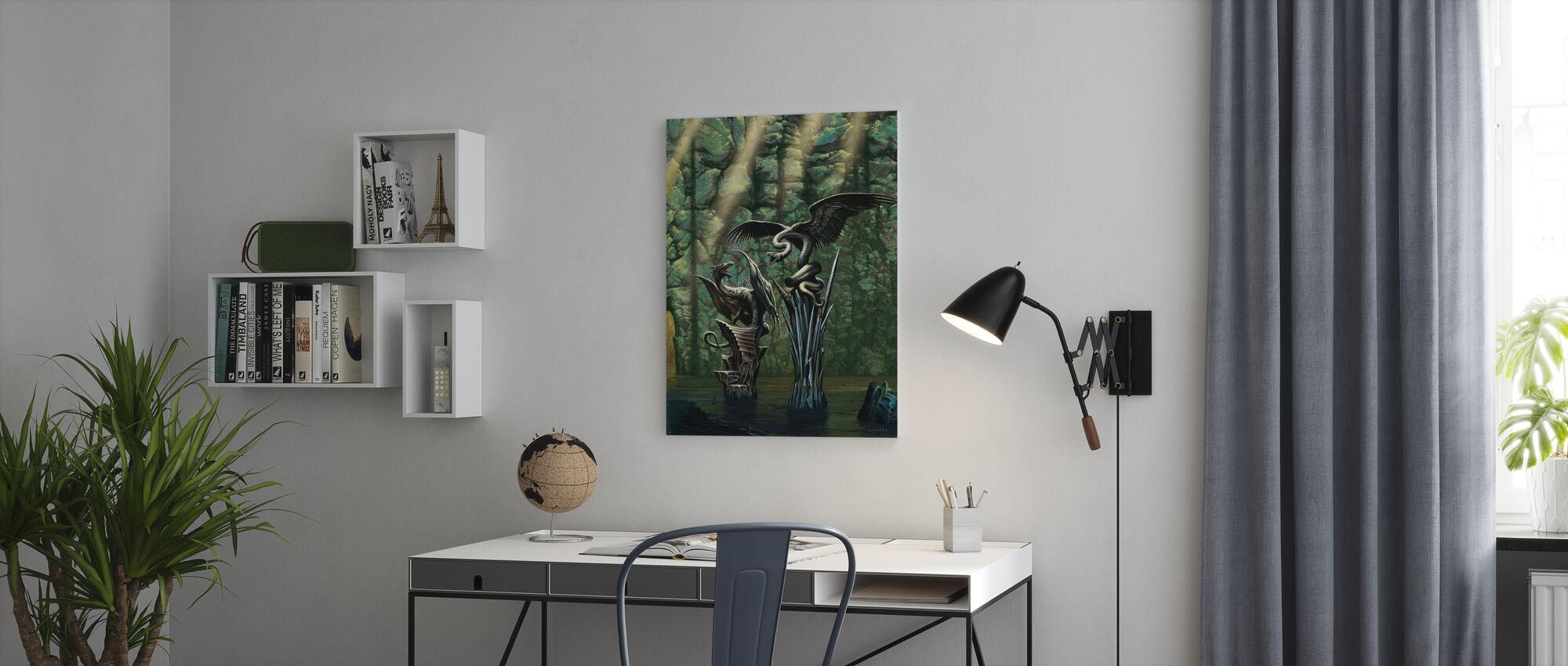 Mörkare - Canvastavla - Kontor