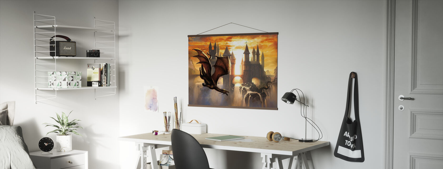 Sunset Dragon - Poster - Office