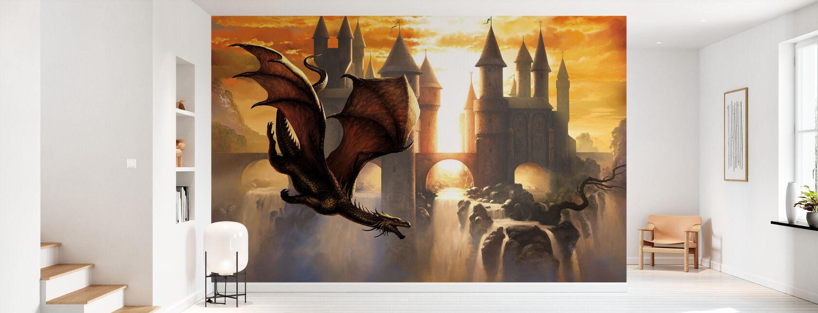 Sunset Dragon - Wallpaper - Hallway