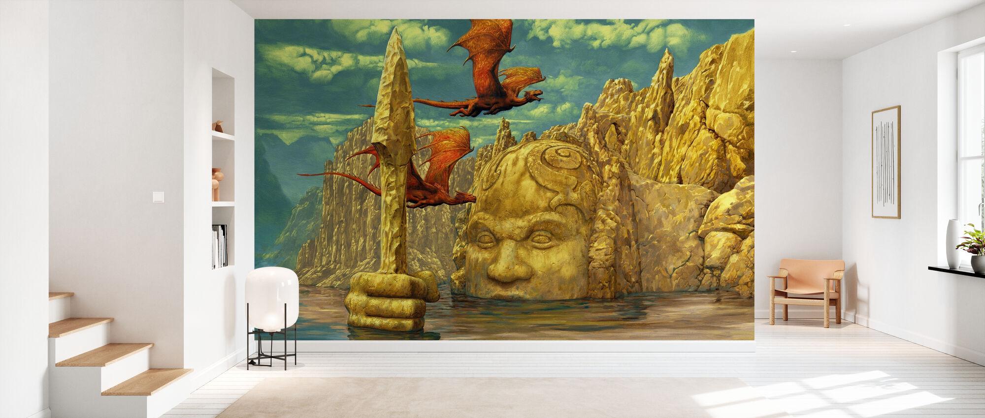 Lake Temple - Wallpaper - Hallway