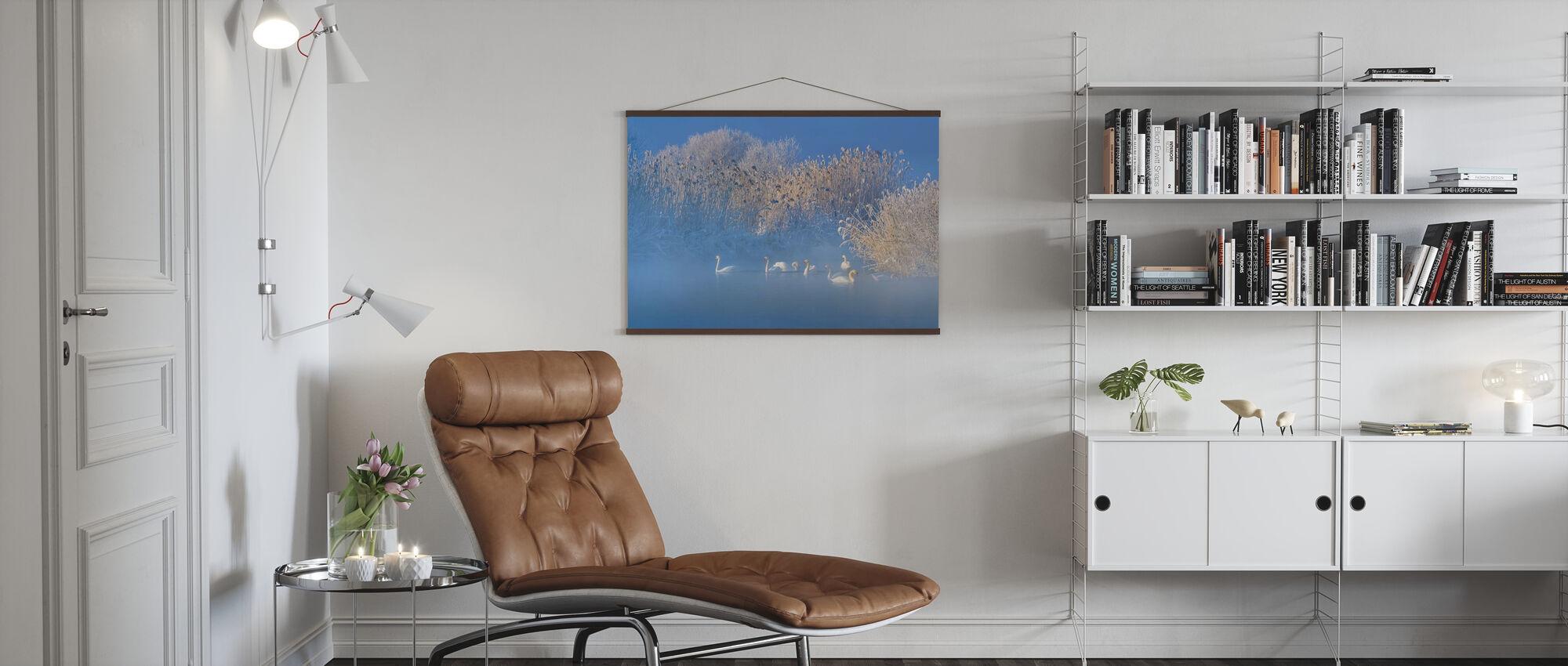 Blue Swan Lake - Poster - Living Room