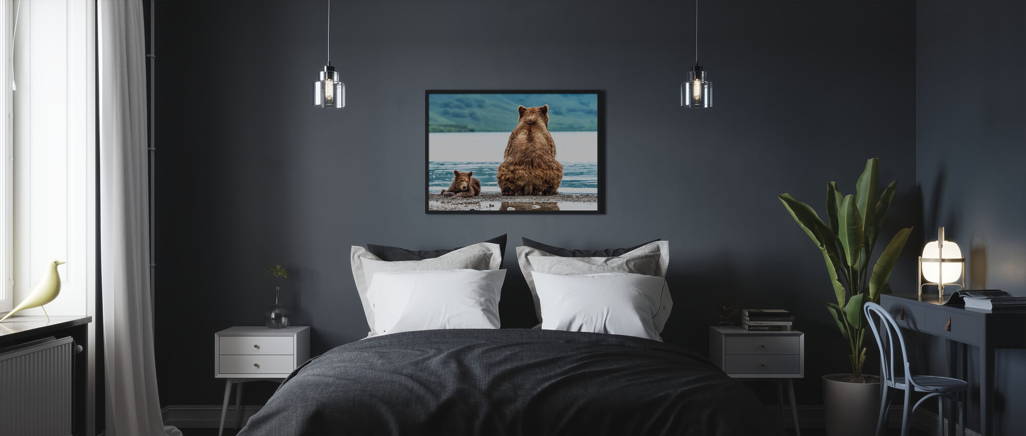 Bear and Cub - Poster - Bedroom