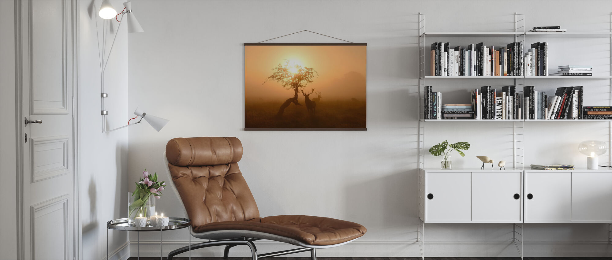 Sun and Deers - Poster - Living Room