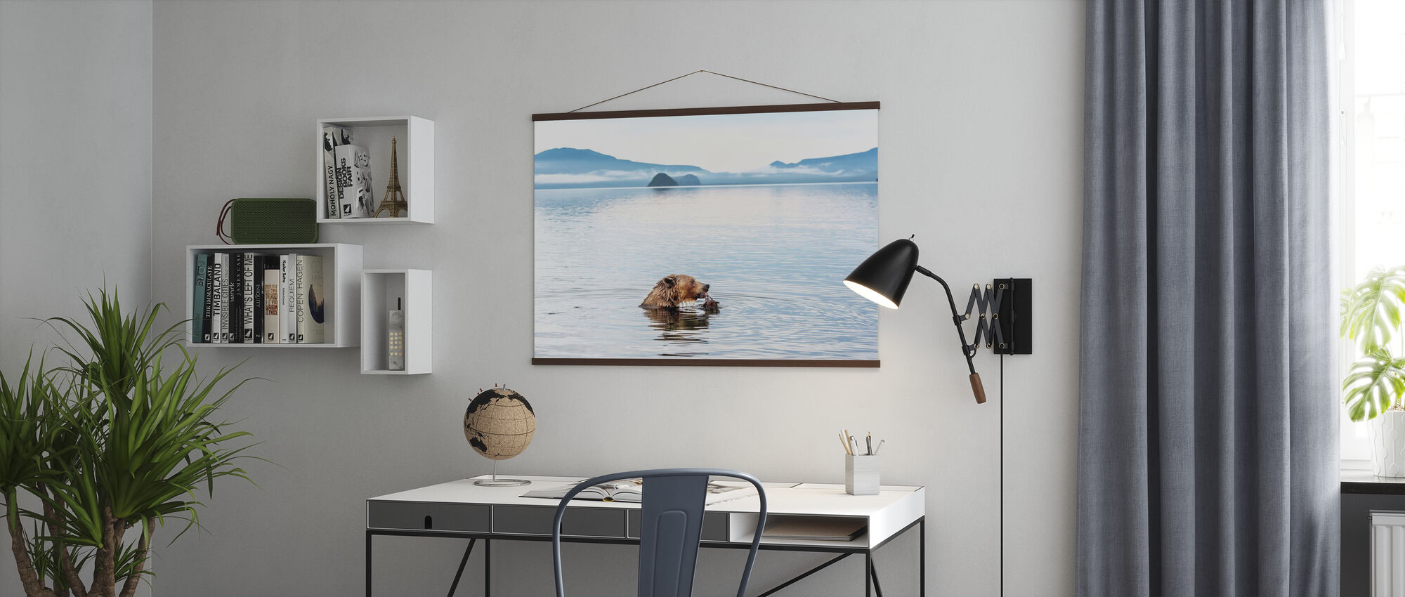 Bear Eating in the River - Poster - Office