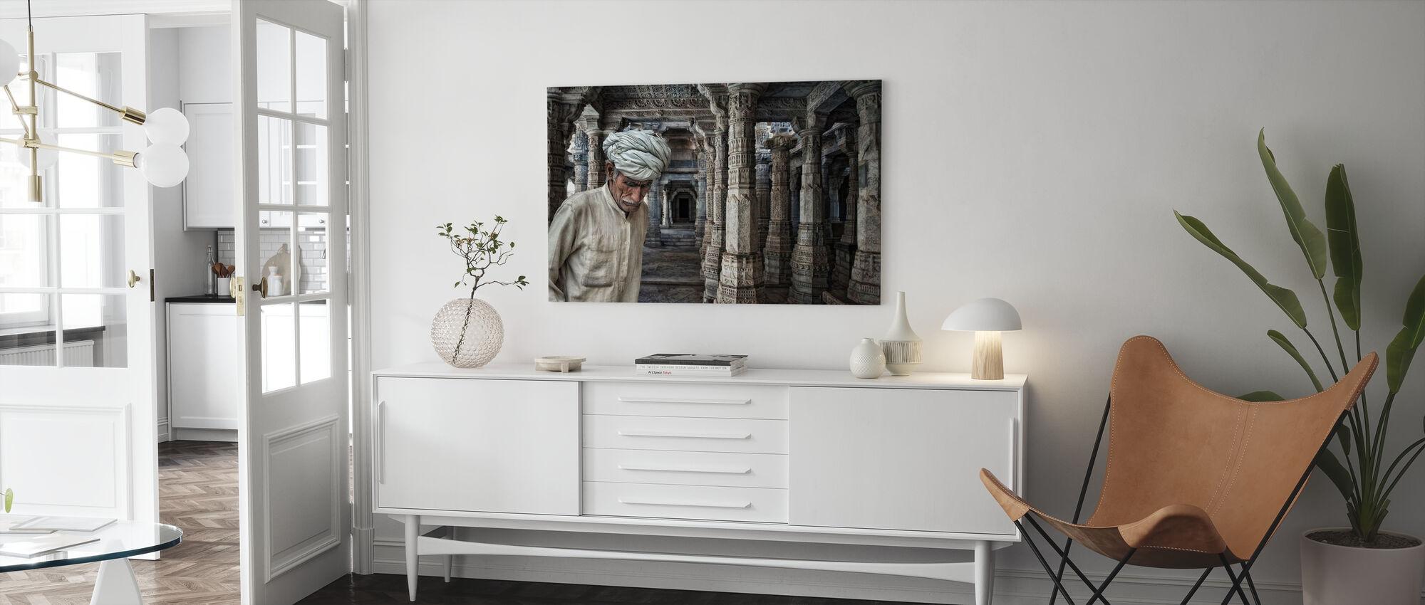 En plats för Meditation - Canvastavla - Vardagsrum