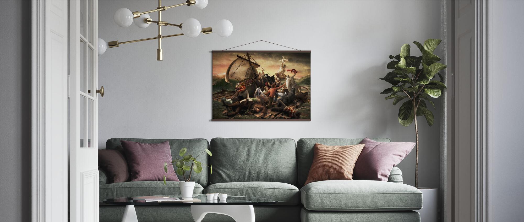 Das Floß von Halloween - Poster - Wohnzimmer