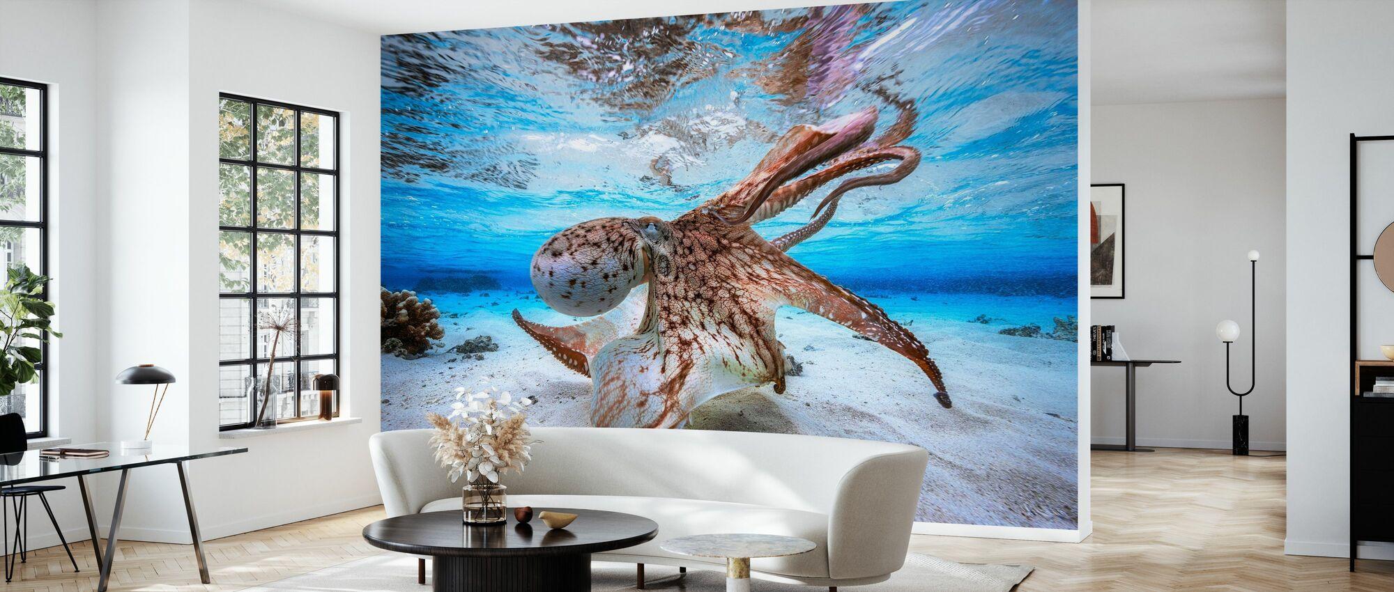 Dancing Octopus - Wallpaper - Living Room