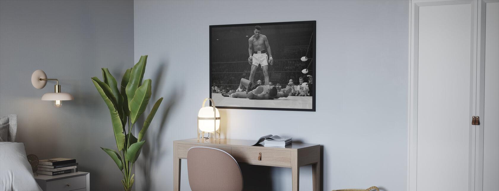 Muhammad Ali vs Sonny Liston - Ingelijste print - Slaapkamer