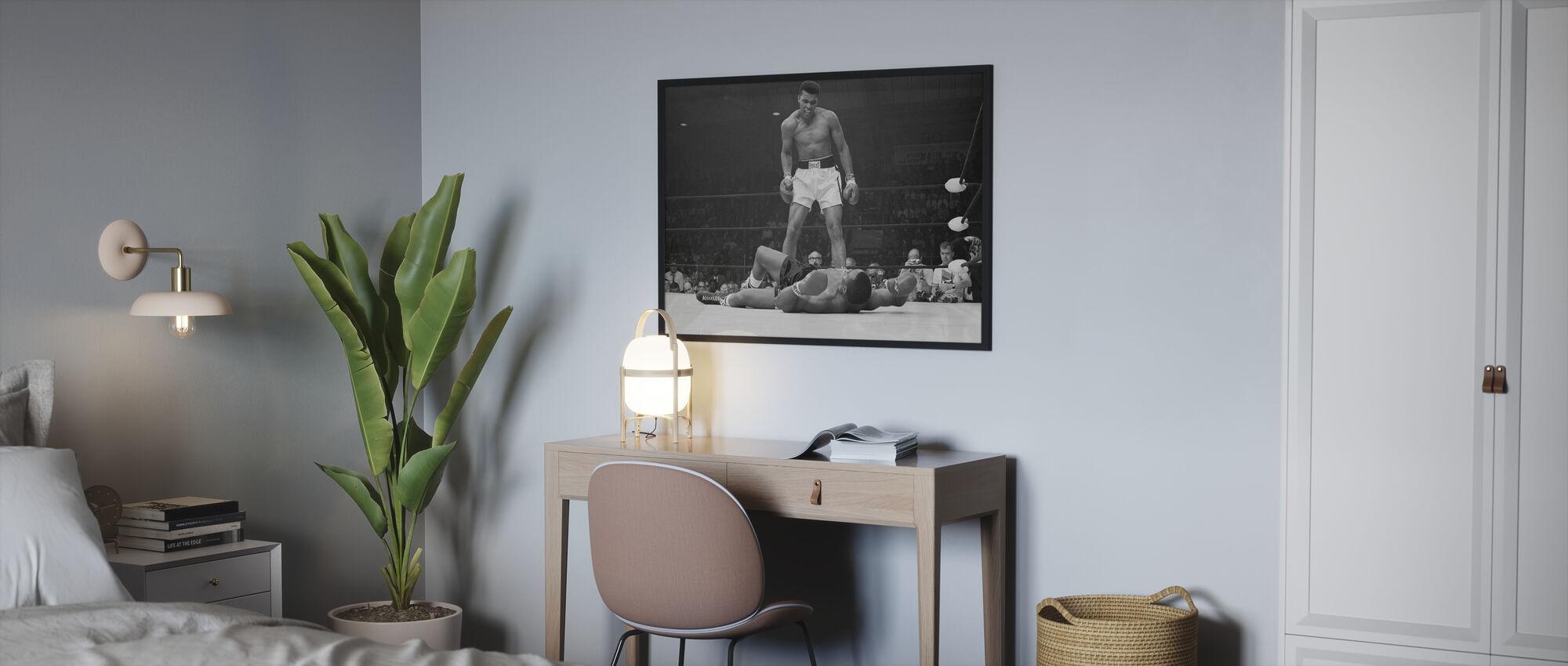 Muhammad Ali vs Sonny Liston - Gerahmtes bild - Schlafzimmer