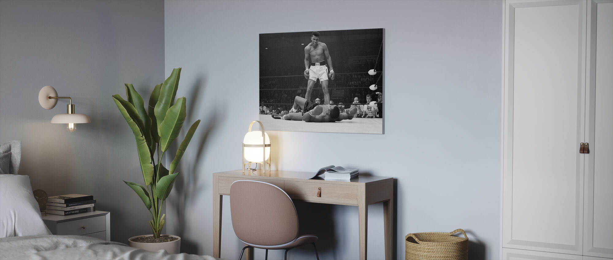 Muhammad Ali vs Sonny Liston - Canvas print - Office