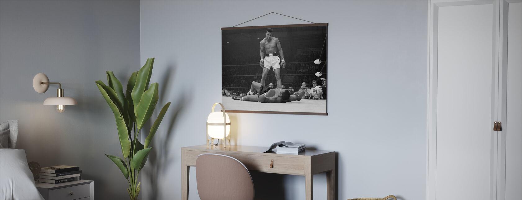 Muhammad Ali vs Sonny Liston - Poster - Kantoor