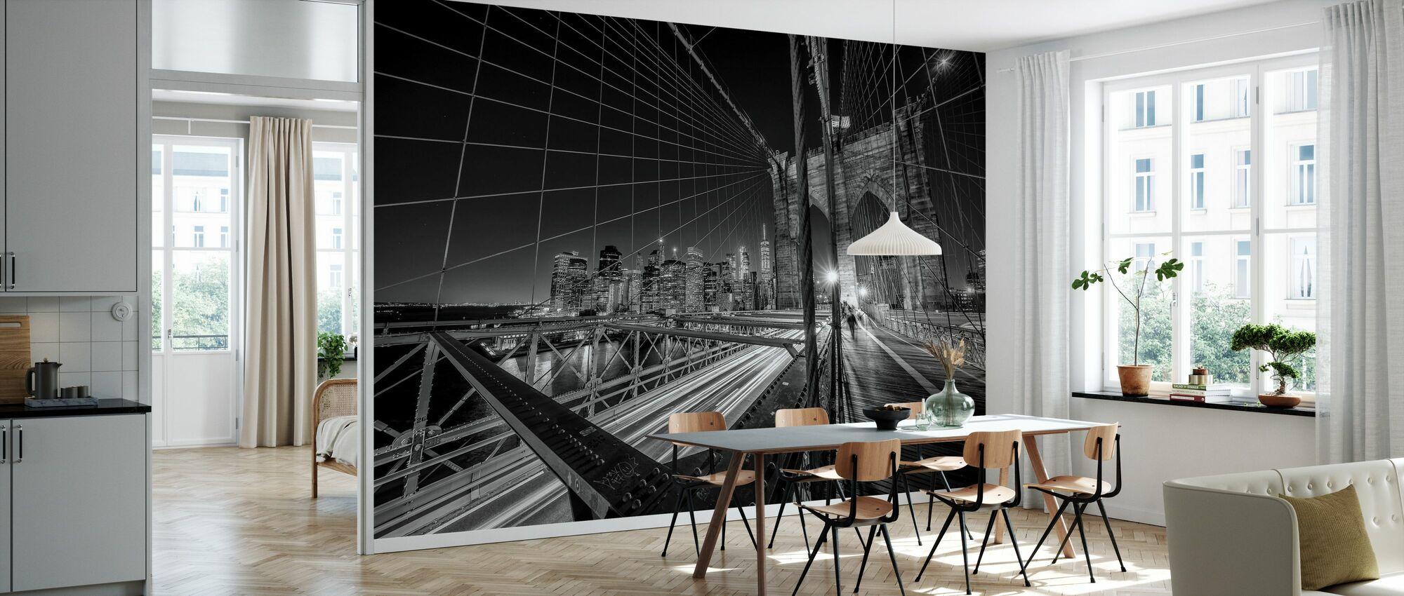 Brooklyn Bridge Lights - Wallpaper - Kitchen