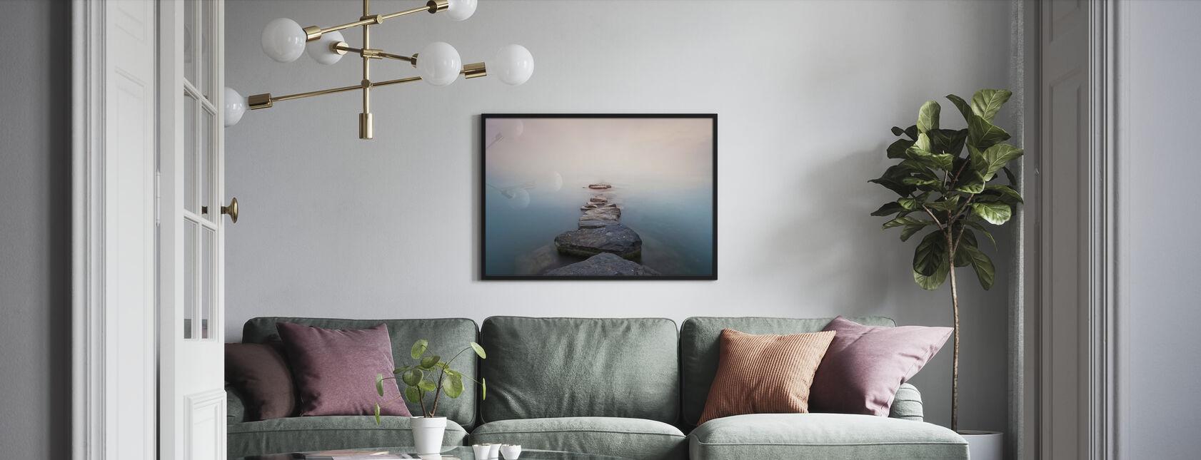 Stones - Framed print - Living Room