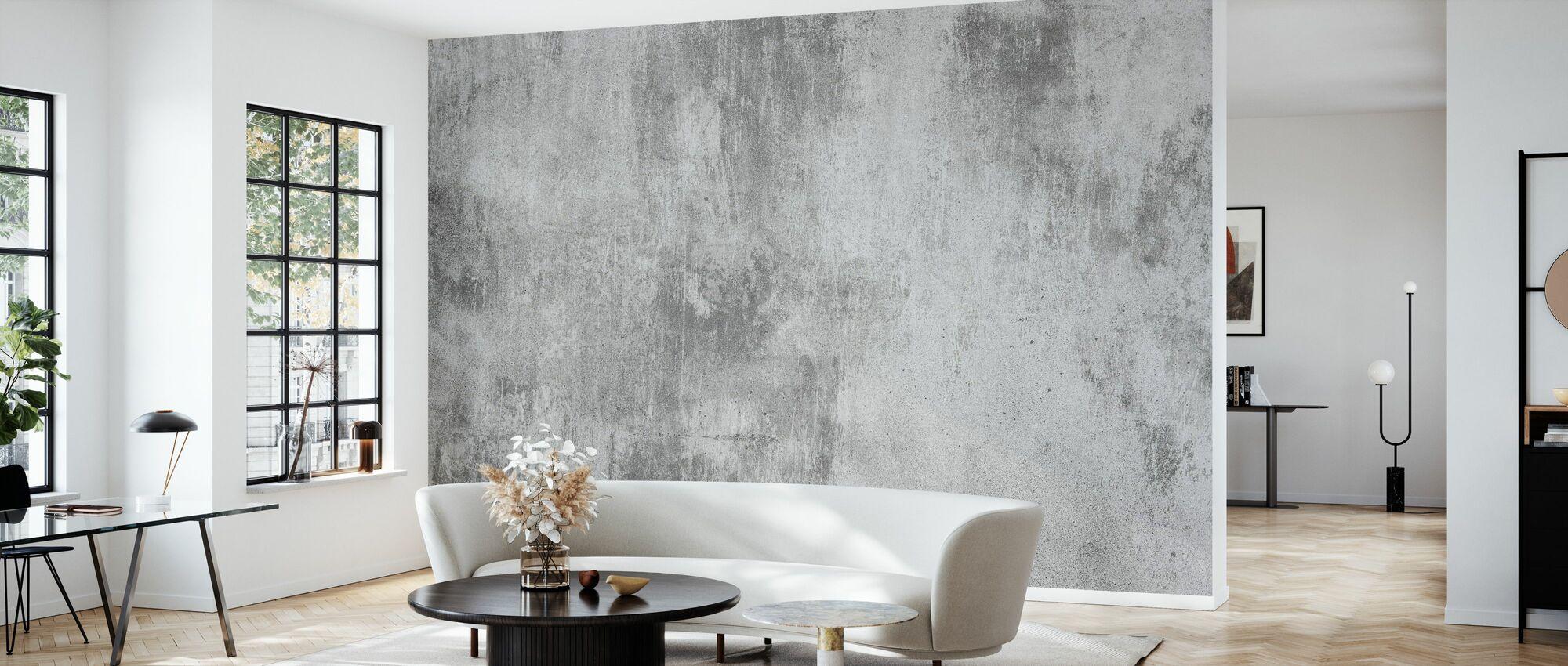 Concrete Wall - Wallpaper - Living Room