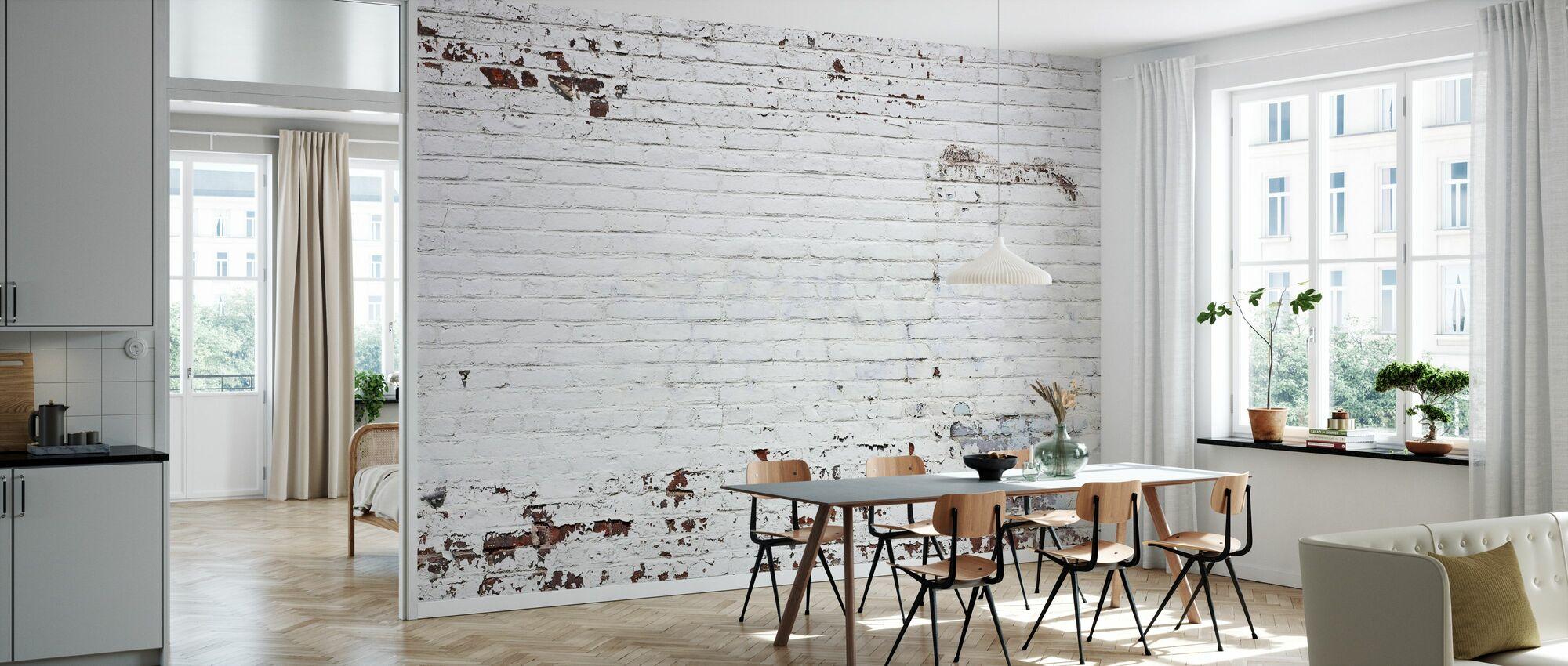 Muro de ladrillo antiguo - Papel pintado - Cocina