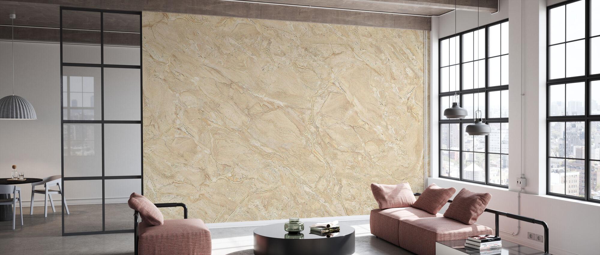 Beige Marble Wall - Wallpaper - Office