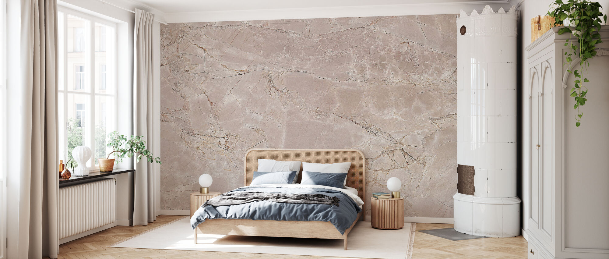 Light Bay Marble - Wallpaper - Bedroom