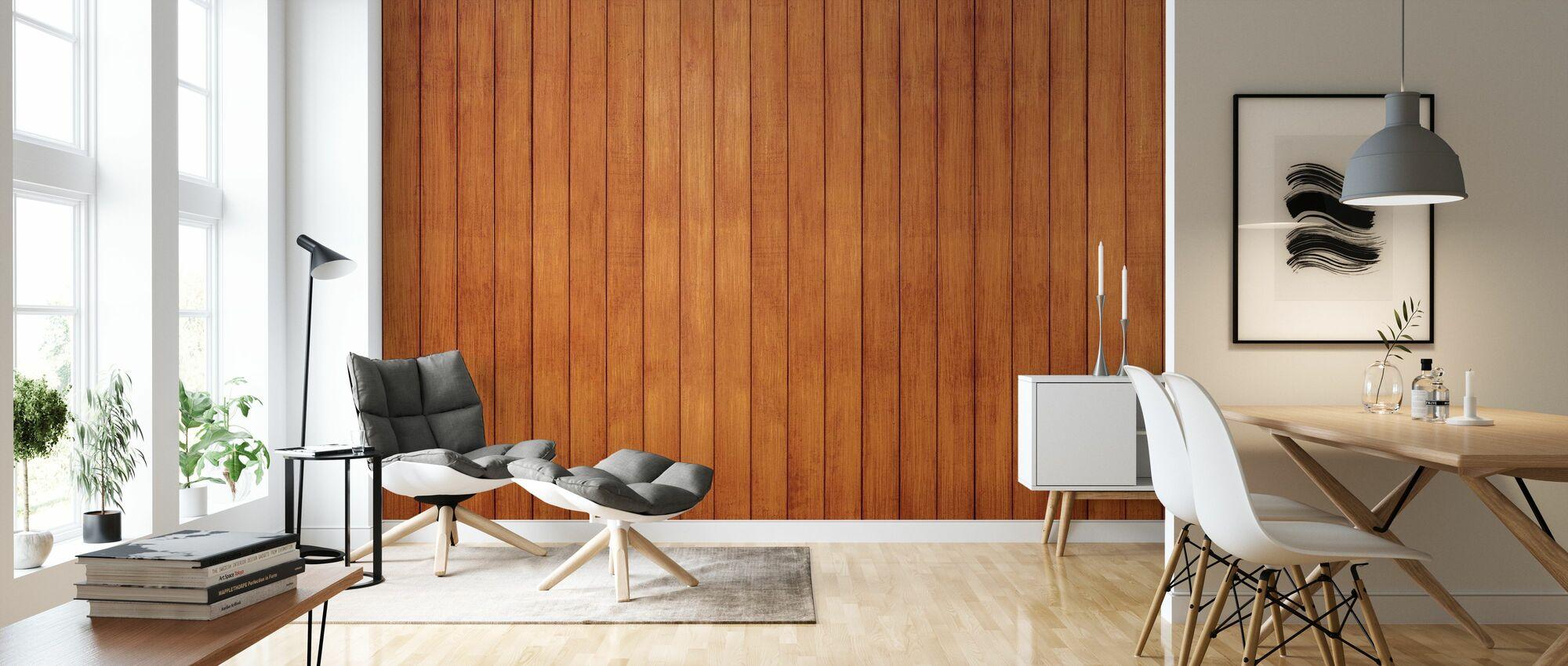 Plank Wall - Wallpaper - Living Room