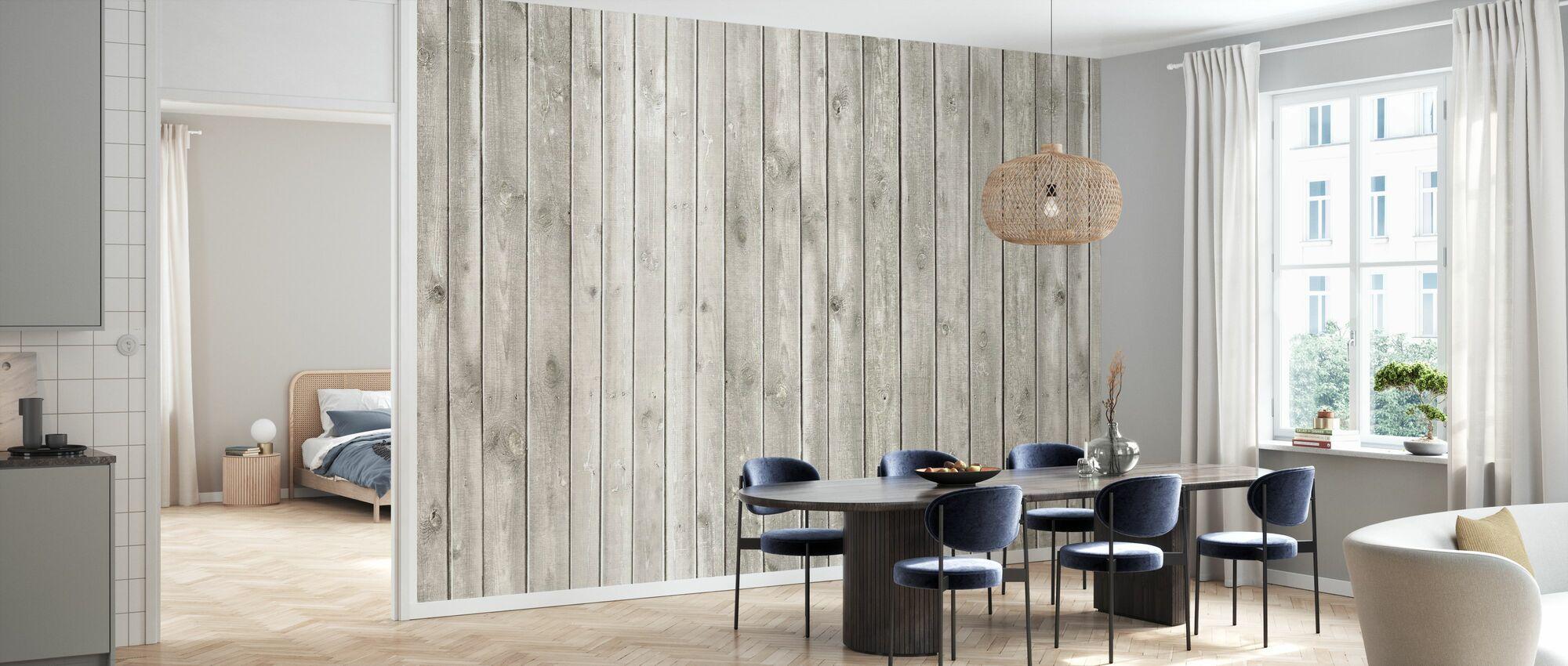Faded Natural Wood - Wallpaper - Kitchen