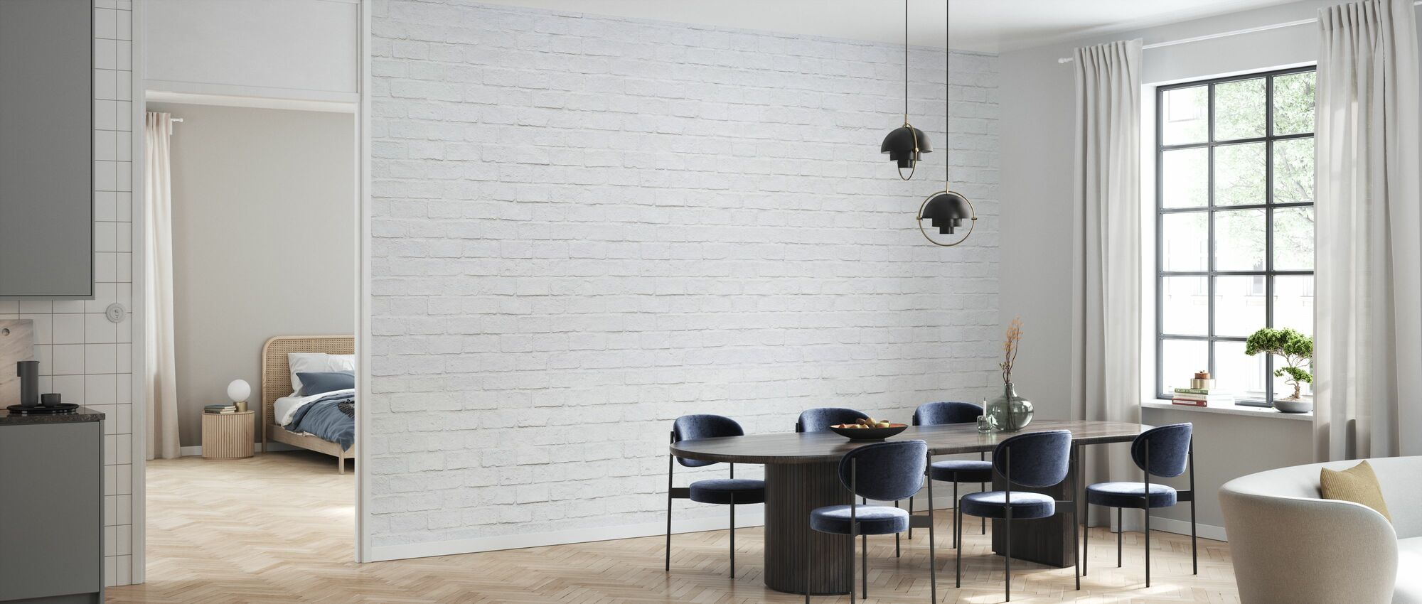 Modern Brick Wall - Wallpaper - Kitchen