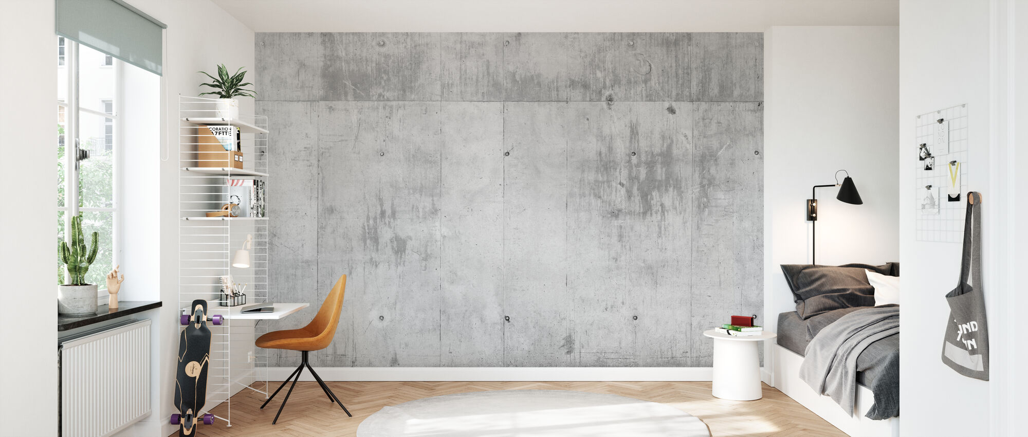 Concrete Wall - Wallpaper - Kids Room