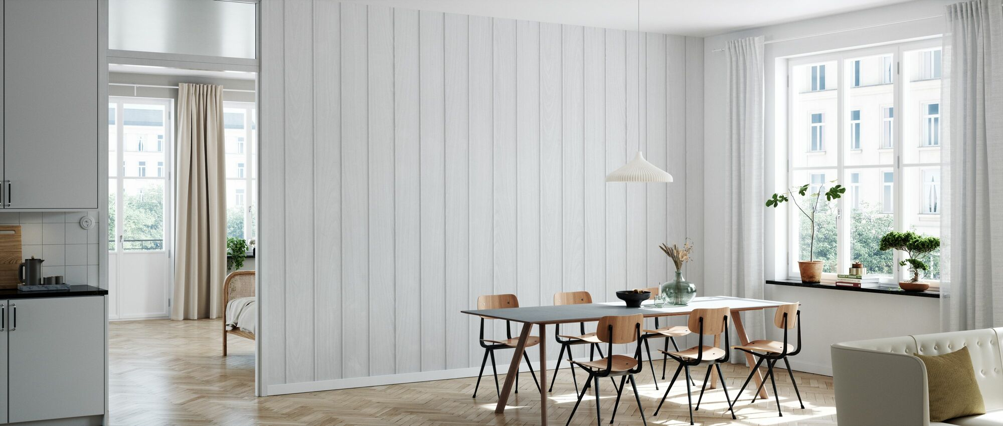 Wood Planks - Wallpaper - Kitchen
