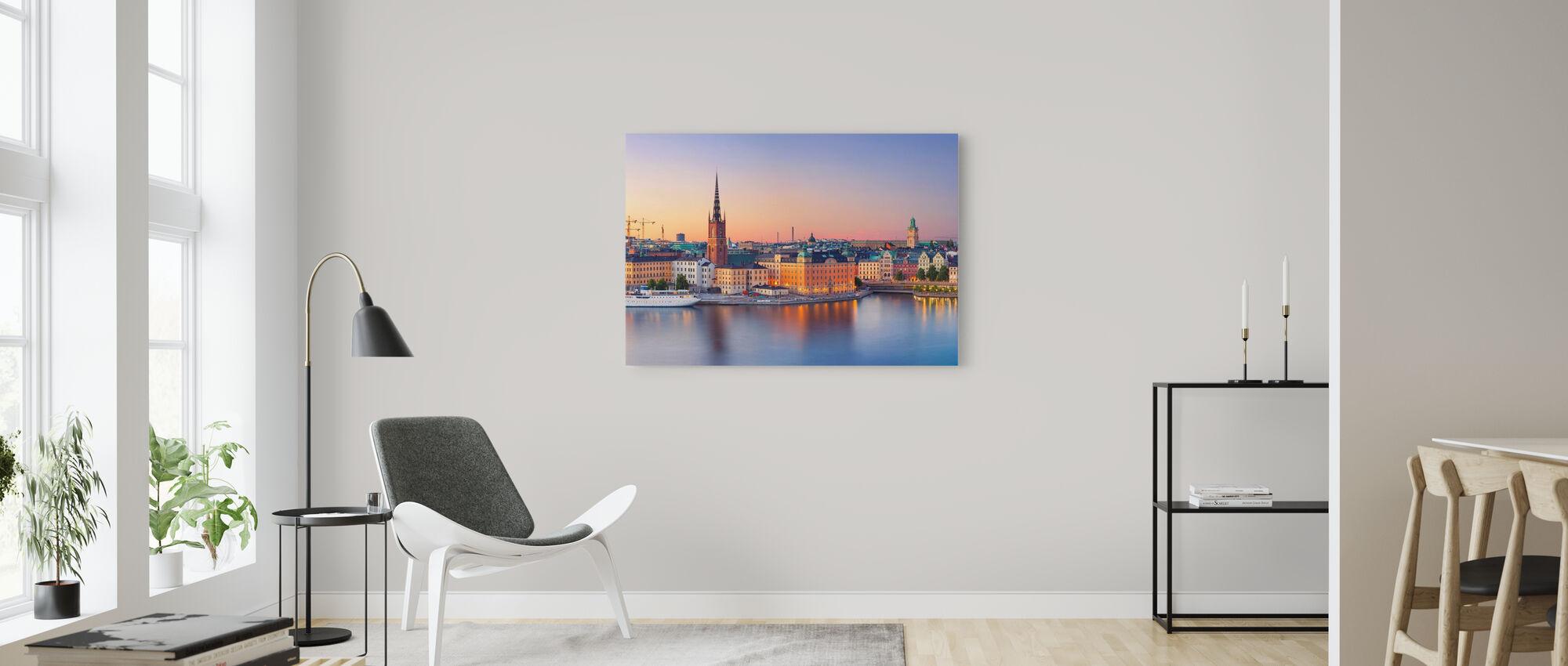 Stockholm at Dusk - Canvas print - Living Room