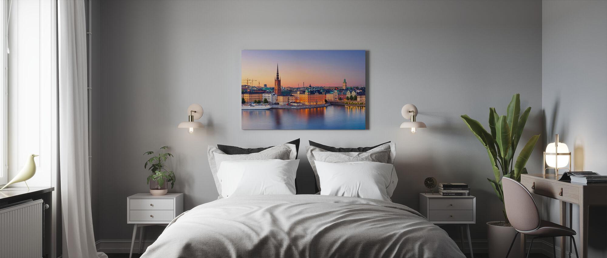 Stockholm at Dusk - Canvas print - Bedroom