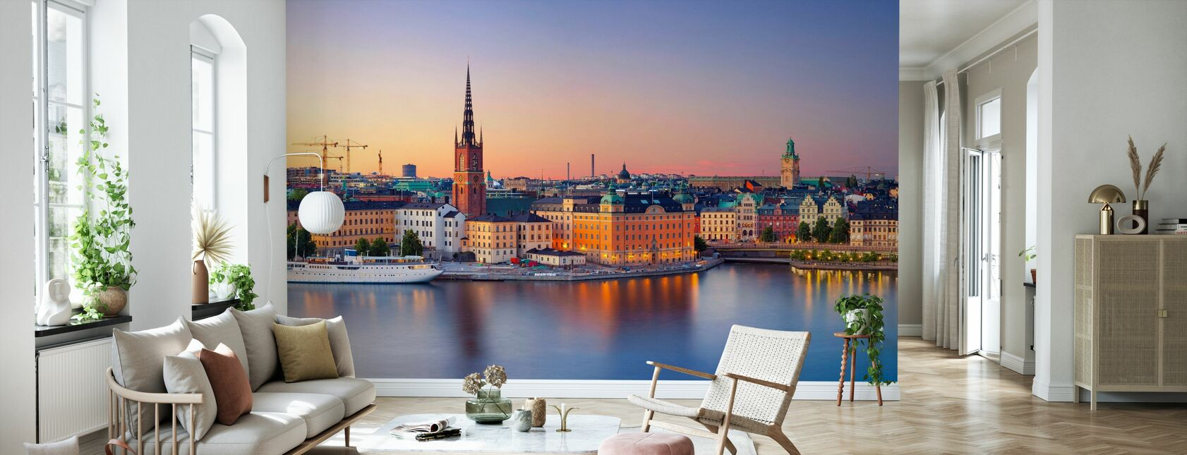 Stockholm at Dusk - Wallpaper - Living Room