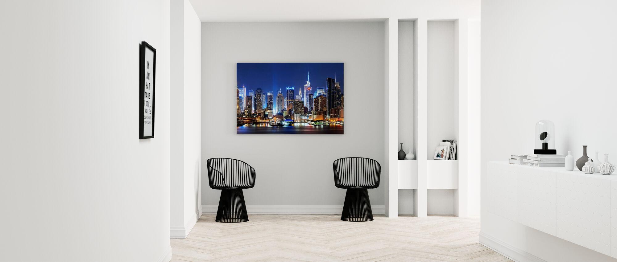 New York Night Skyline - Canvastavla - Hall