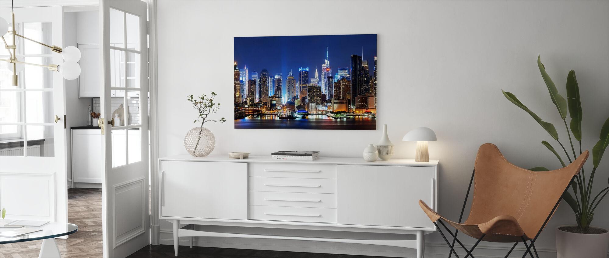 New York City Night Skyline - Canvas print - Woonkamer