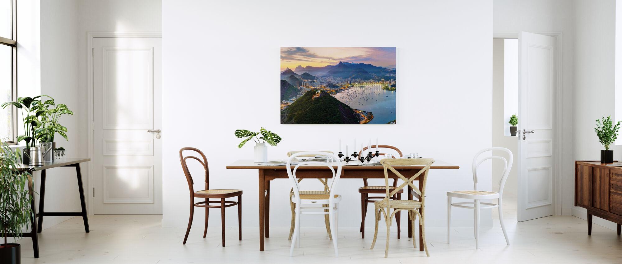 Sunset in Rio de Janeiro - Canvas print - Kitchen