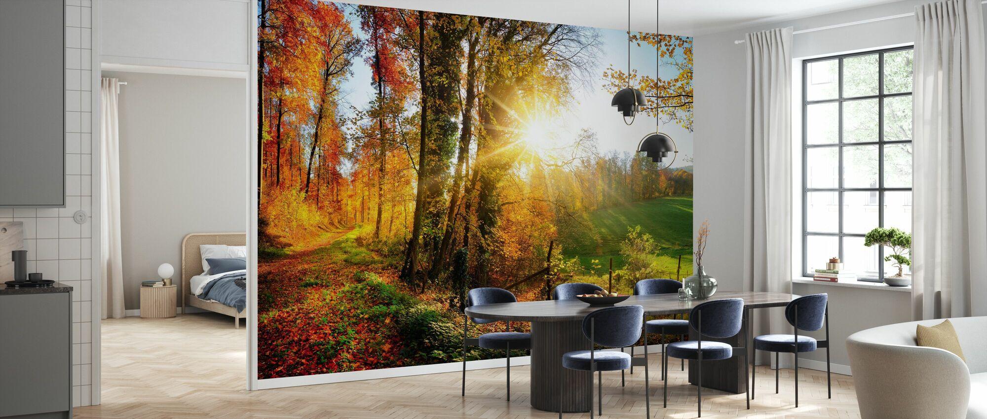 Hermoso paisaje - Papel pintado - Cocina