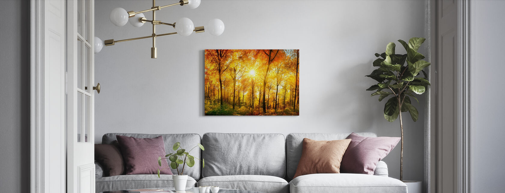 Autumn Forest - Canvas print - Living Room