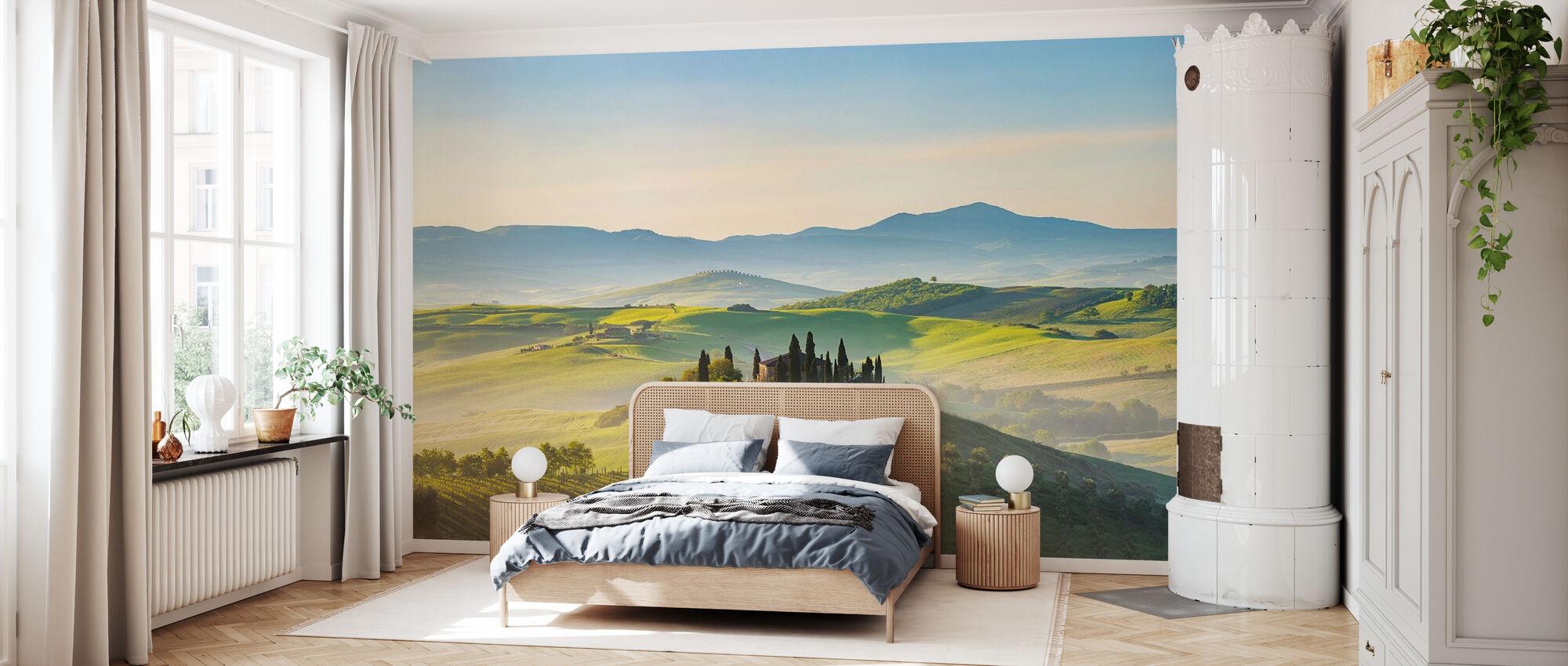 Toscana på vårmorgen - Tapet - Soverom