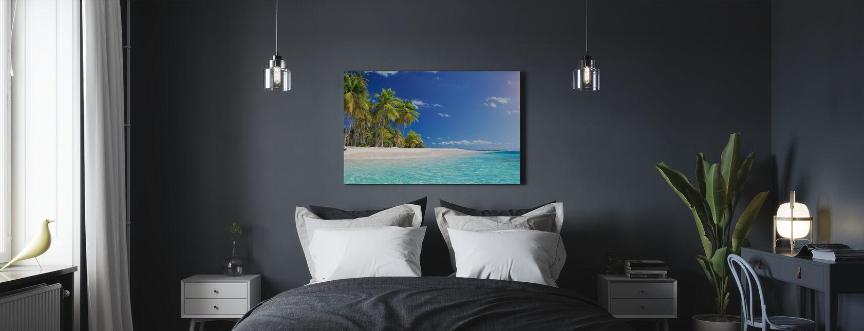 Spiaggia di Palm Tree - Stampa su tela - Camera da letto