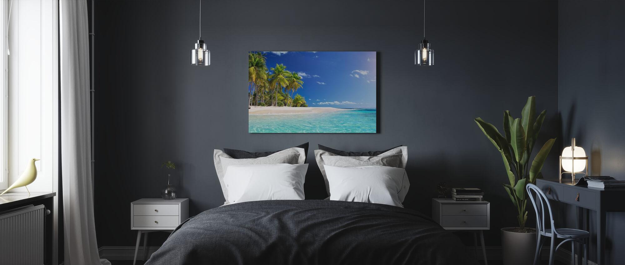 Palm Tree Beach - Canvas print - Bedroom