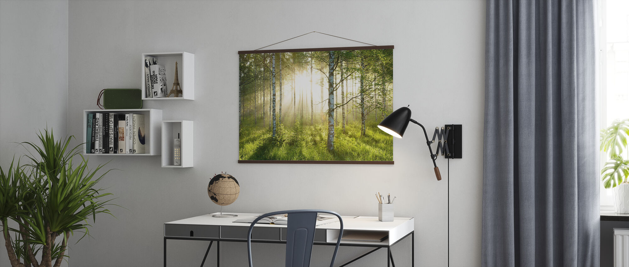 Birch Trees Forest - Poster - Office