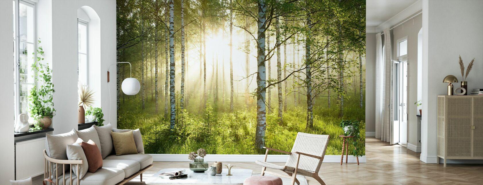 Björk Skog - Tapet - Vardagsrum