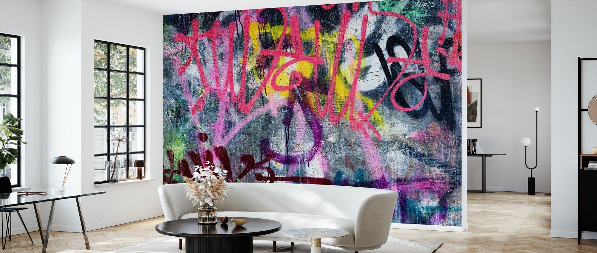 Graffiti coloré - Papier peint - Salle à manger