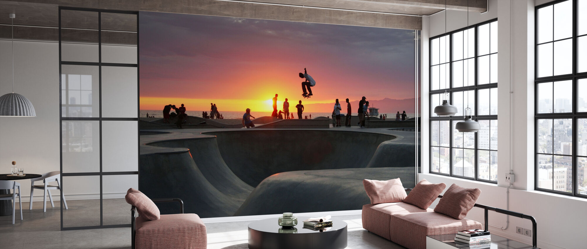 Skateboarding at the Beach - Wallpaper - Office