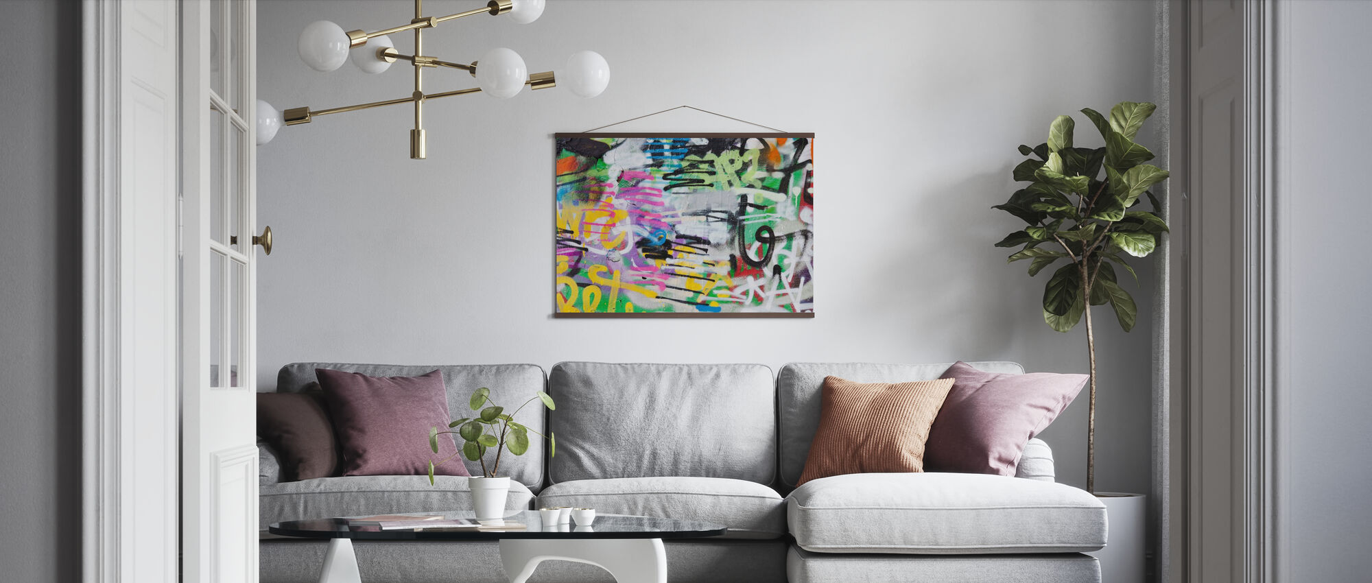 Painted Graffiti Wall - Poster - Living Room