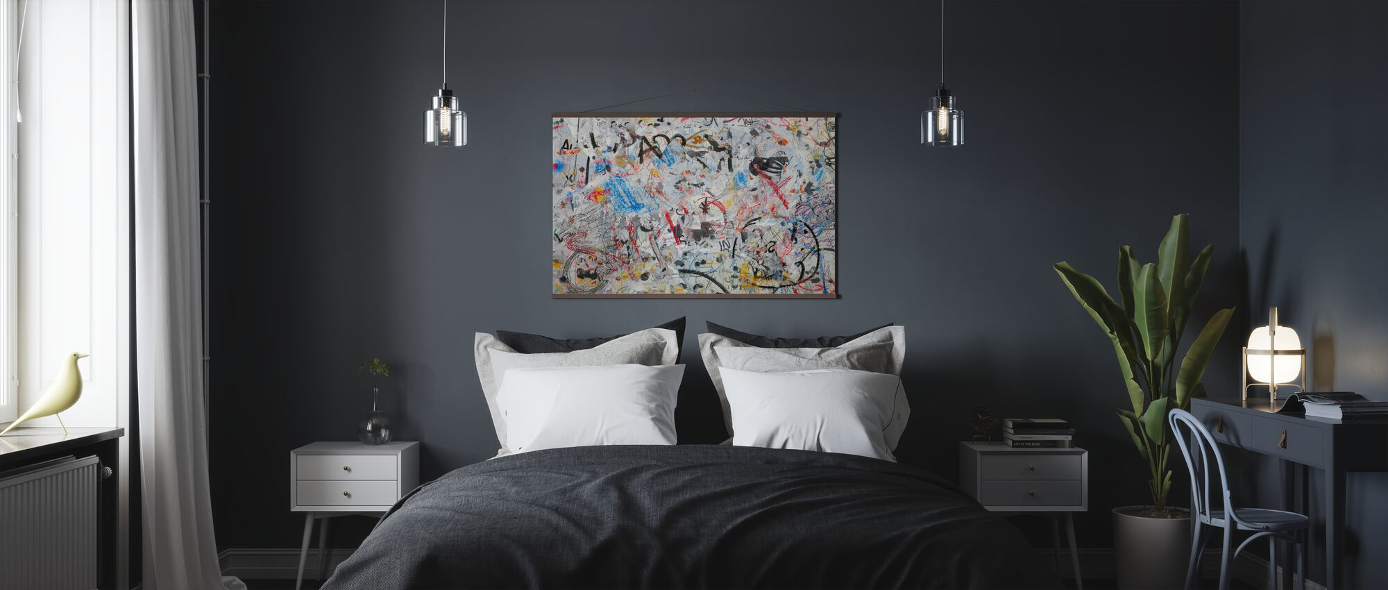 Grunge Graffiti Wall - Poster - Bedroom